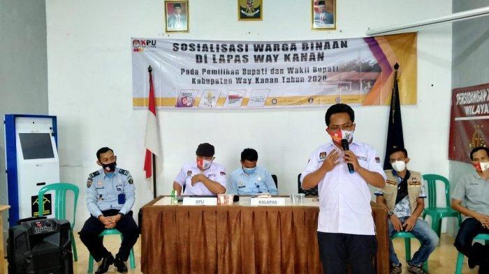 KPU Way Kanan Sosialisasi Tata Cara Pencoblosan di Lapas