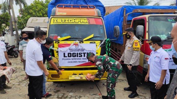 KPU Mulai Distribusikan Logistik Pilkada Way Kanan 2020