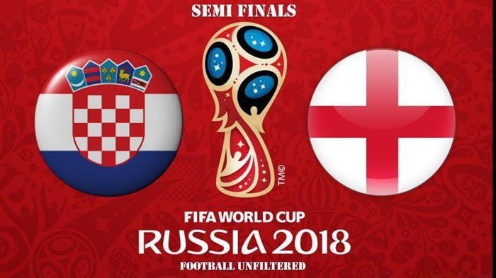 Head to Head Kroasia vs Inggris - Semifinal Piala Dunia 2018 Pukul 01.00 WIB