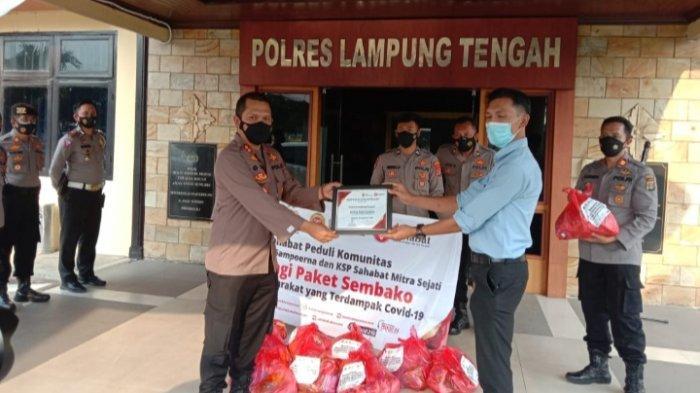 KSP Sahabat Minta Bandar Jaya Lampung Bantu 300 Paket Sembako ke Warga Terdampak Covid