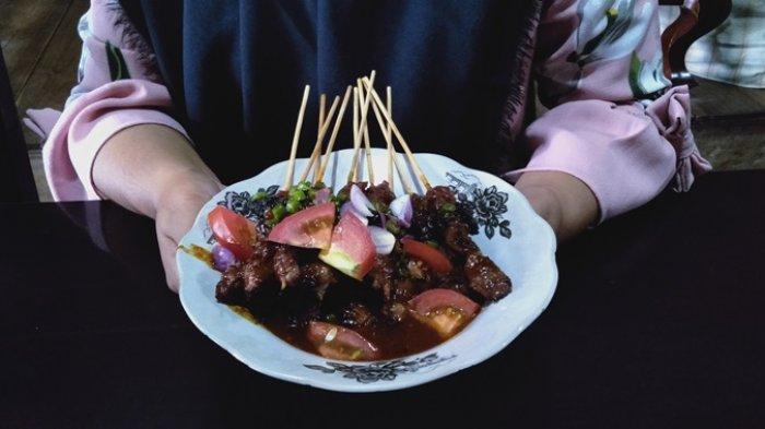 Kuliner Lampung, Daging Sate Pondok Wong Ndeso Mesuji Kenyal dan Empuk