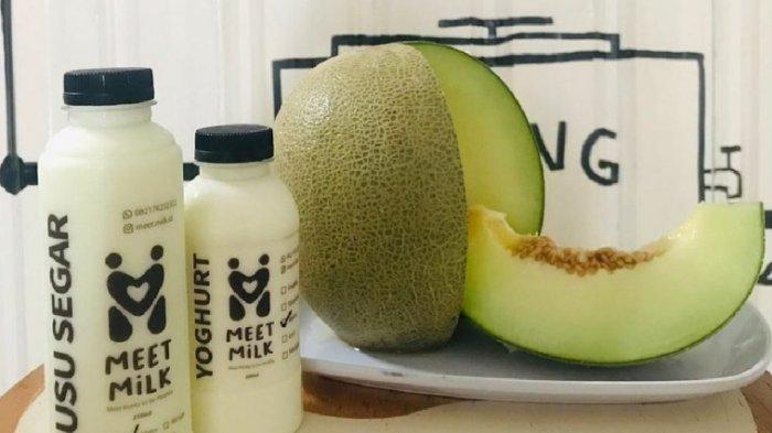 Kuliner Lampung, Susu Segar Meet Milk dengan Aneka Varian Rasa Cuma Rp 10 Ribu per Botol
