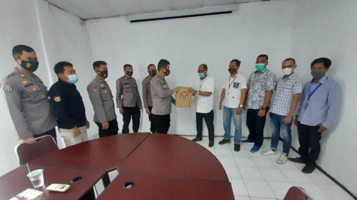 Bidang Humas Polda Lampung Kunjungan ke Tribun Lampung