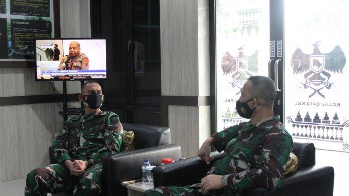 Kolonel Inf Romas Herlandes Terima Kunjungan Ketua tTm Pengawasan dan Evaluasi Sterdam II/Sriwijaya