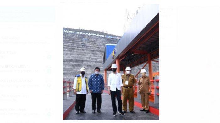 Gubernur Lampung Arinal Djunaidi Dampingi Presiden Jokowi dalam Peresmian Bendungan Way Sekampung
