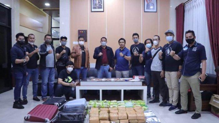 Bawa 84 Kg Sabu, Kurir asal Banjarmasin Ditangkap saat Transit di Bandar Lampung