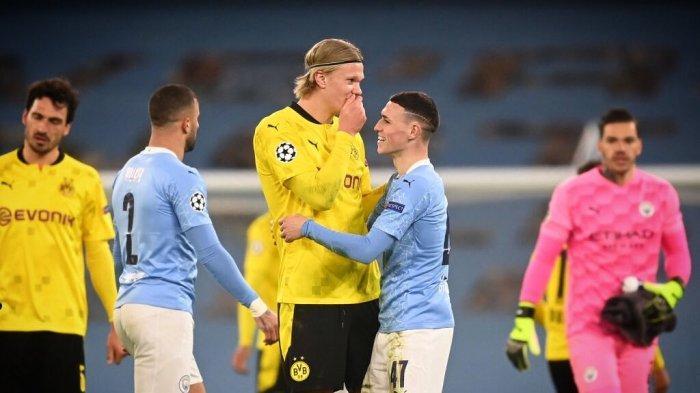 Laga Man City vs Borussia Dortmund, Erling Haaland Jadi Sorotan Fans The Citizen