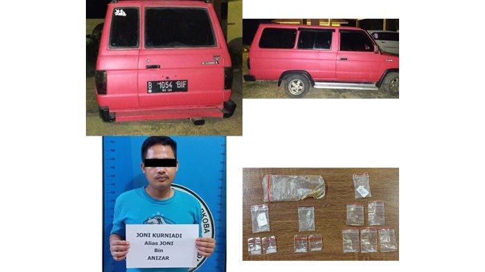 Lagi Tunggu Pembeli, Pengedar Narkoba di Lampung Tengah Digerebek Polisi di Mobil