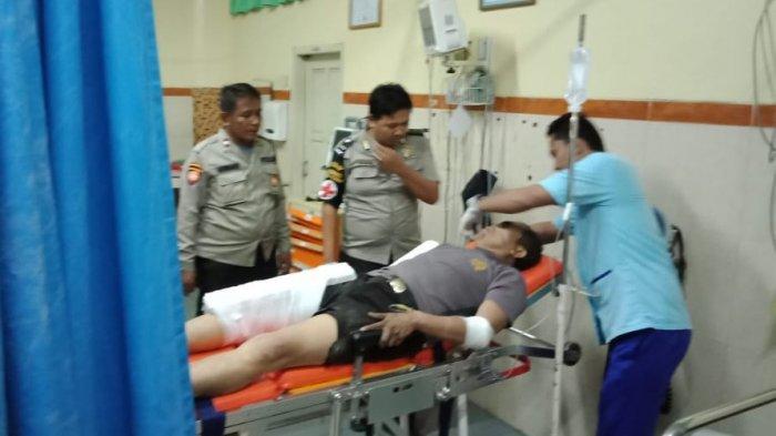 Kaki dan Tangan Perwira Polisi Patah Diseruduk Avanza Usai Jaga TPS Pilgub