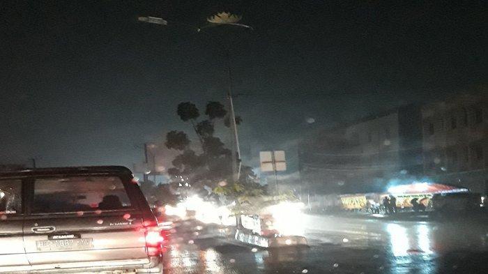 Lampu Penerangan Jalan Umum Pangeran Antasari Bandar Lampung Kembali Padam