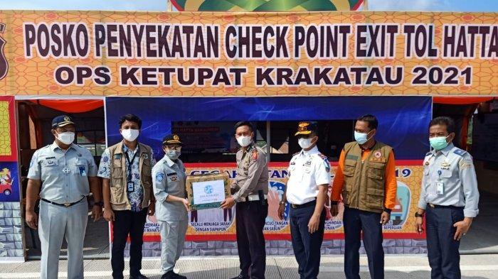Jasa Raharja Lampung Gelar Aksi Simpatik Posko Penyekatan PAM Lebaran 1442 H Tahun 2021