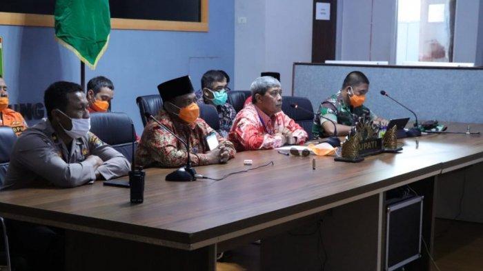 Loekman Djoyosoemarto Gelar Rapat Vicon dengan Gubernur Lampung