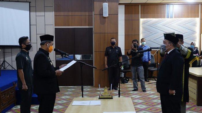 Loekman Djoyosoemarto Lantik Sekretaris Daerah Kabupaten Lampung Tengah Hanibal S.H,.M.H