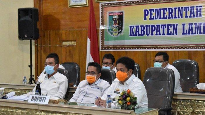 Bupati Lampung Timur Zaiful Bokhari Gelar Vicon dengan Mendagri