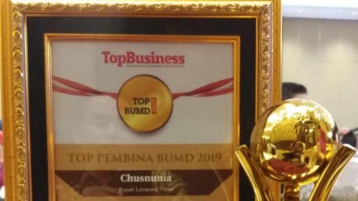 Bupati Lamtim Nunik Raih Penghargaan Top Pembina BUMD 2019