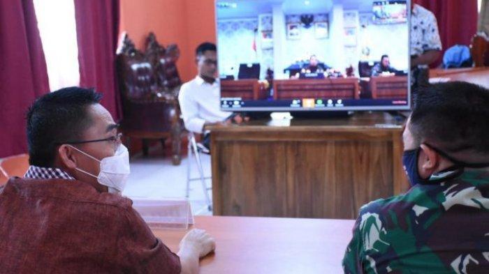 Zaiful Bokhari lakukan Video Conference dengan Gubernur Lampung Terkait Pengendalian wabah Covid-19