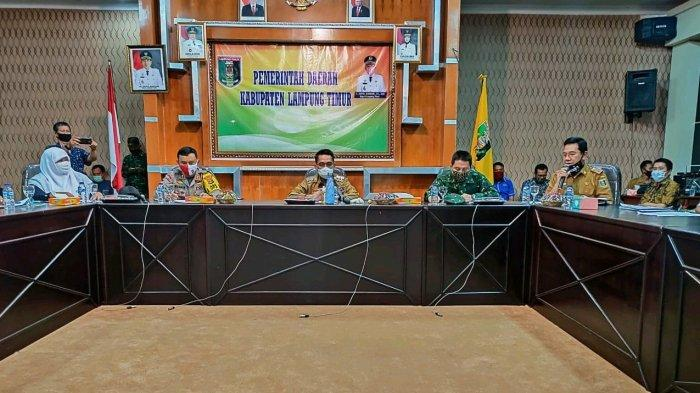 Bupati Lampung Timur Gelar Rapat Rapat Kesiapan New normal di Aula Utama Kantor Bupati