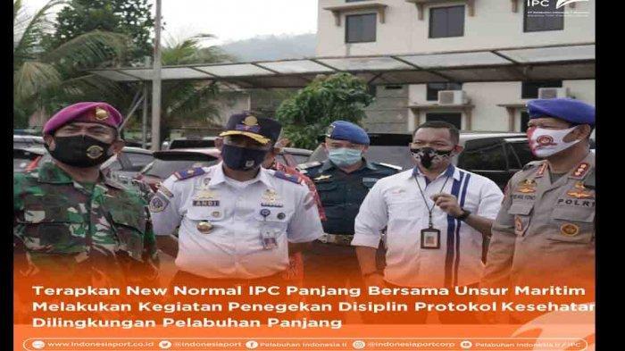 IPC Panjang dan Unsur Maritim Gelar Kegiatan Penanganan Covid-19 Persiapan Menuju New Normal