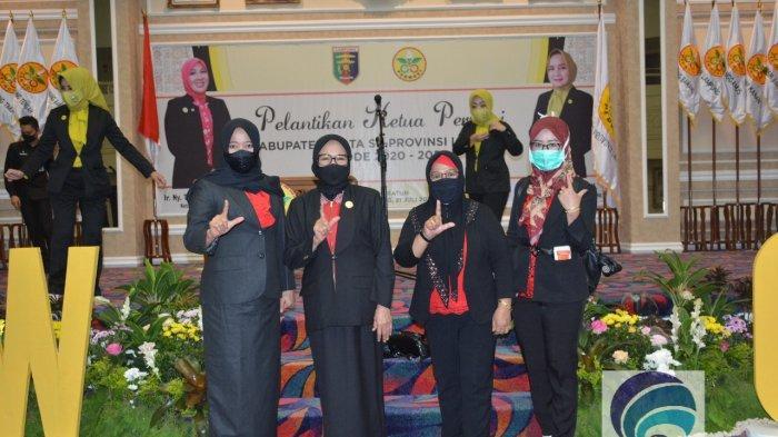 Ellya Lusiana Loekman Dilantik  sebagai Ketua Perwosi Kabupaten Lampung Tengah