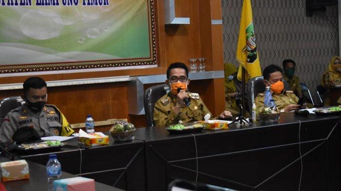 Bupati Lampung Timur Zaiful Bokhari Pimpin Rapat Persiapan New Normal