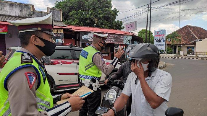 15 Pengendara Motor Langgar Verboden di Jalan Kyai Arsyad Metro Lampung