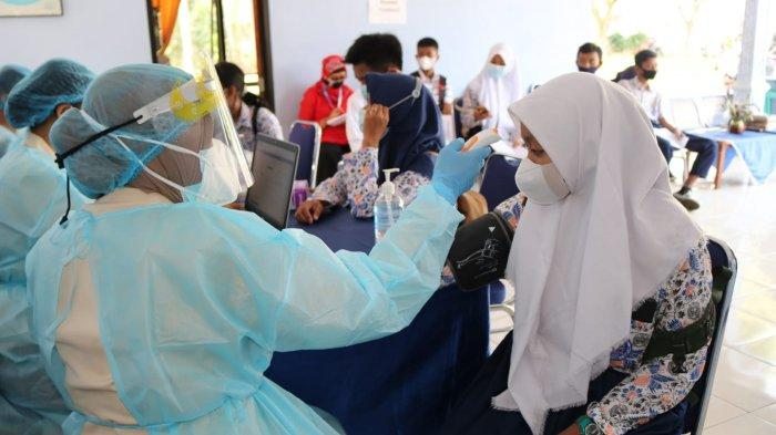 Lanud M Bun Yamin Tulangbawang Lampung Vaksin Anak 12-17 Tahun