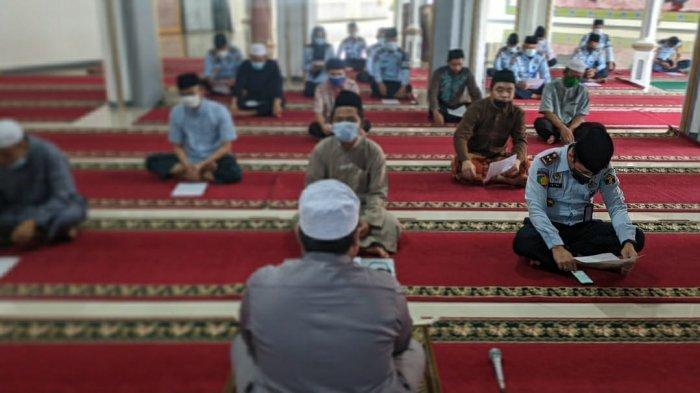 Minta Ketenangan Hadapi Covid-19, Lapas Kalianda Lampung Selatan Istigasah Bersama Napi