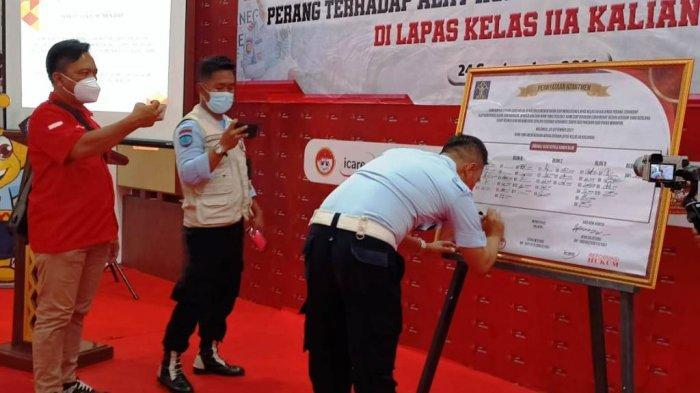 Lapas Kelas IIA Kalianda Lampung Berantas Peredaran Alat Komunikasi Ilegal dan Narkoba di LP
