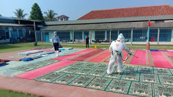 Lapas Kota Agung Adakan Penyemprotan Disinfektan Jelang Idul Fitri 1442 H
