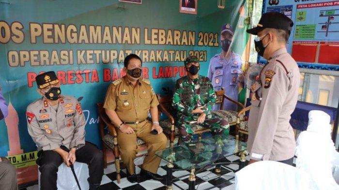 Jelang Larangan Mudik, Gubernur Arinal Cek Kesiapan Personel