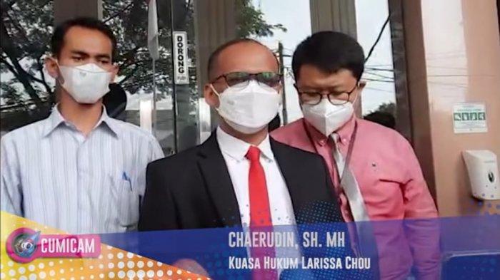 Pengacara Larissa Chou memberikan penjelasan setelah persidangan kedua perceraian Larissa Chou dan Alvin Faiz selesai.
