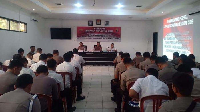 Polres Way Kanan Gelar Latihan Pra Operasi Cempaka Krakatau 2019