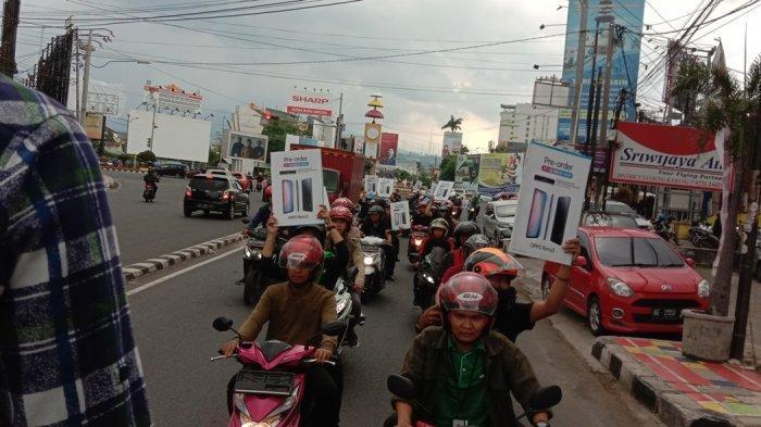 Launching Oppo Reno 3, Oppo Lampung Pawai Keliling Kota Bandar Lampung