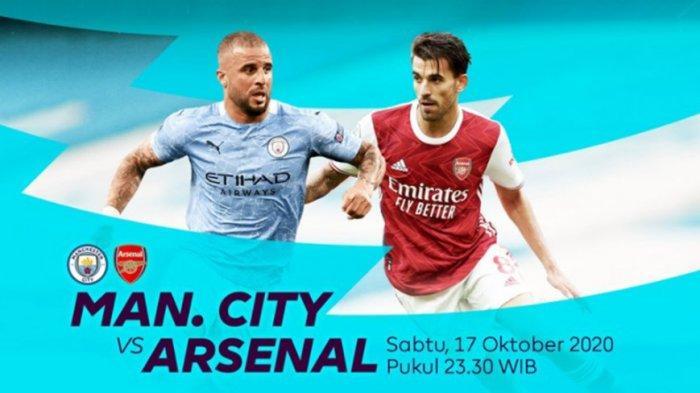 Link Live Streaming Manchester City Vs Arsenal Sabtu (17/10/2020) Pukul 23.30 WIB