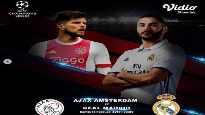LIVE RCTI Liga Champions 2019 Ajax Vs Real Madrid Live Streaming Malam Ini Pukul 03.00 WIB