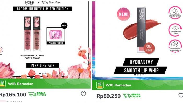 Promo Tokopedia, Promo Produk Lips Make Over hingga 35% di Tokopedia