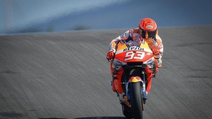 LIVE MotoGP Jerez 2021, Marc Marquez Apes Jatuh di FP3 hingga Harus Start Posisi 14