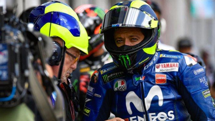 MotoGP San Marino Italia 2018 - Sempat Tercecer, Valentino Rossi Puas Meski Hanya 10 Besar