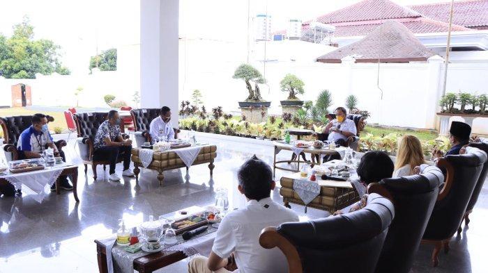 Gubernur Lampung Arinal Djunaidi Terima Audiensi Media Tribun Lampung