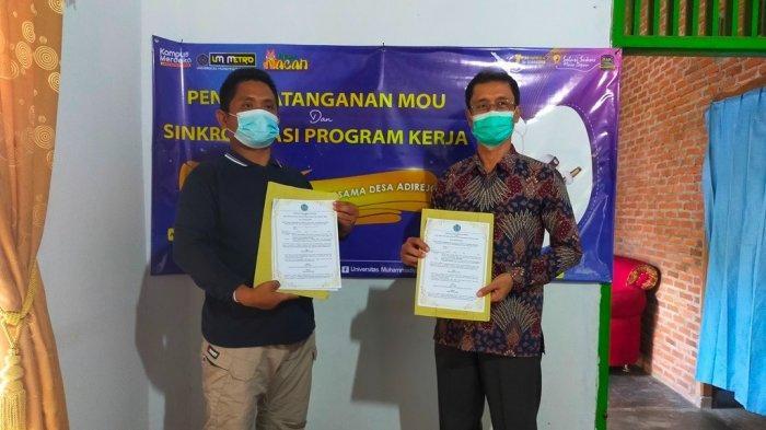 Laksanakan PHP2D, UM Metro Gandeng Desa Adirejo Tandangani Perjanjian Kerjasama