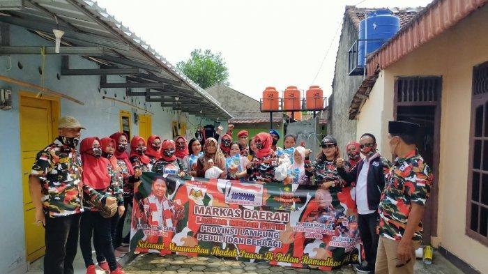 Mada LMP Lampung Terus Peduli Kasih dan Berbagi Kepada Masyarakat Terdampak Covid-19