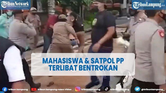 VIDEO Mahasiswa dan Satpol PP Terlibat Bentrok saat Demo Tolak PPKM Mikro
