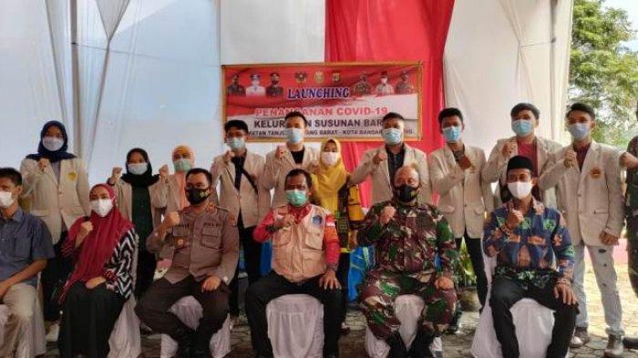 Mahasiswa KKN Universitas Saburai Turut Sukseskan Launching Kampung Tangguh Kelurahan Susunan Baru
