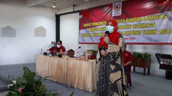 Maju Pilkada, Eva Dwiana Cuti dari Ketua Umum Koni Bandar Lampung