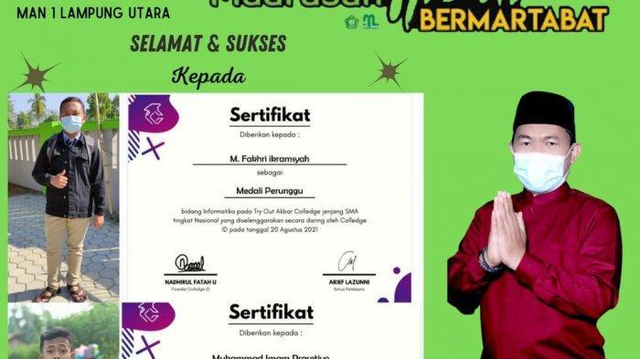 KSN MAN 1 Lampung Utara Raih Perunggu Tryout Akbar College Tingkat Nasional