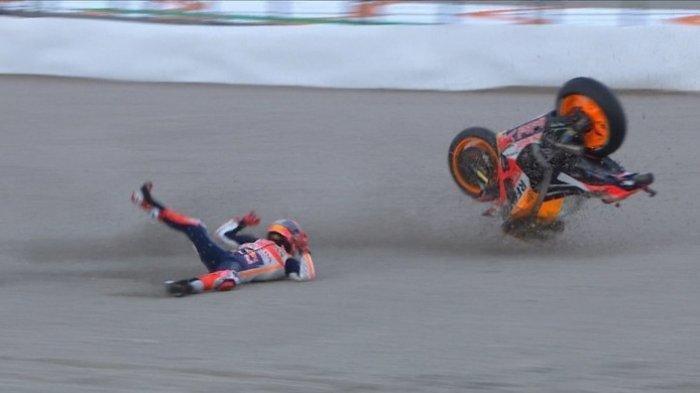 Live Streaming Trans7 MotoGP Valencia 2018 - Hasil Kualifikasi: Marquez Crash, Vinales Tercepat