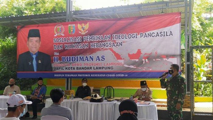 Mayor Inf Anang Nugroho Hadiri Sosialisasi Pembinaan Ideologi Pancasila di Labuhan Ratu Raya
