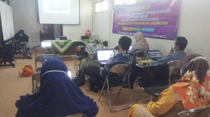 Pendidikan Ekonomi UM Metro Adakan Workshop Pengembangan Perangkat Pembelajaran Kurikulum MBKM