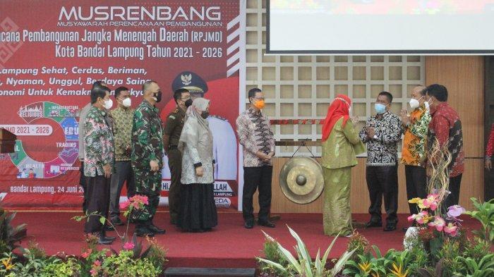 Kolonel Inf Romas Herlandes Hadiri Musrenbang Kota Bandar Lampung