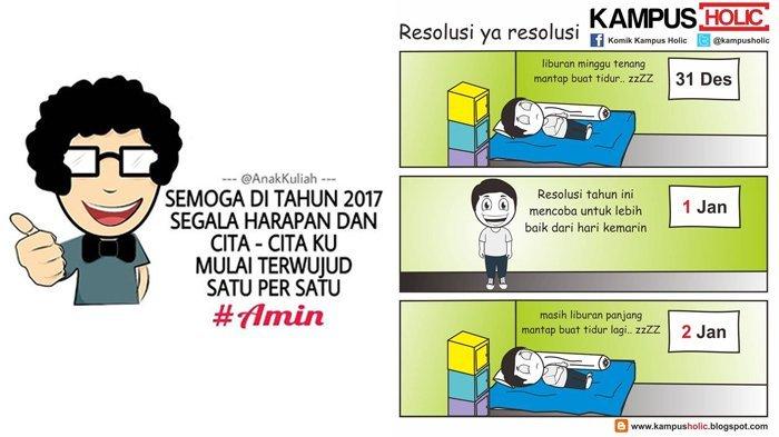 9 Meme Lucu Perayaan Tahun Baru ala Mahasiswa